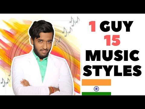 1 GUY 15 MUSIC STYLES (Indian Edition)