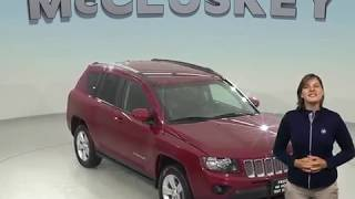 A98538TR Used 2016 Jeep Compass Latitude 4WD SUV Red Test Drive, Review, For Sale -