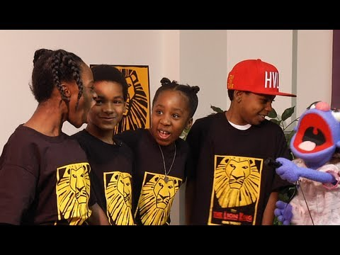 Interview with the Kids of Disney's The Lion King - YouTube