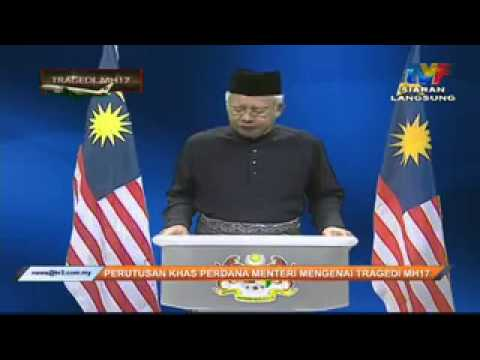 MH17: Perutusan Khas Oleh YAB Perdana Menteri Menteri @NajibRazak