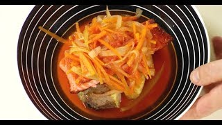 Жареная рыба под маринадом с картофелем в мундире / шеф-повар  Илья Лазерсон / Обед безбрачия