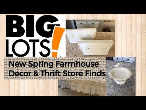 SPRING FARMHOUSE DECOR // BIG LOTS // CHIPPY PAINT DIY