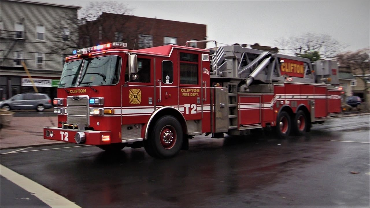 clifton fire department nj engine truck village square