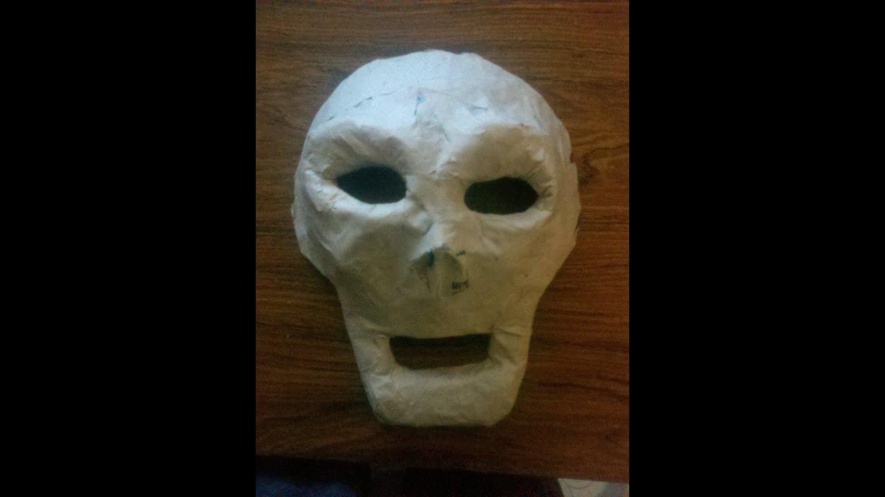 Diy paper mask c mo hacer una m scara de papel youtube - Como hacer una mascara ...