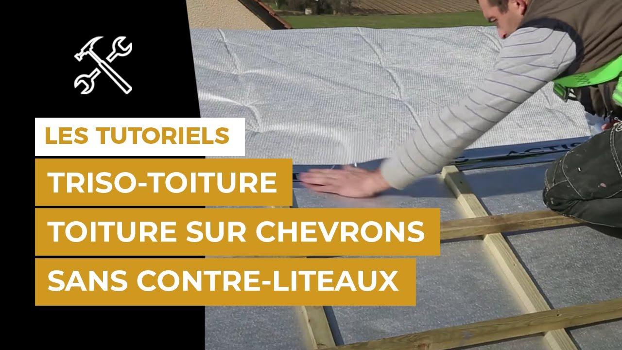 comment isoler sa toiture avec triso super 12 boost 39 r 39 sur chevrons sans contre liteaux youtube. Black Bedroom Furniture Sets. Home Design Ideas