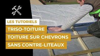 Pose en toiture par l'extérieur sur chevrons en crémaillère