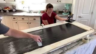 🔴 Trash To Treasure Old Door Chalkboard + House Plans!   WNW