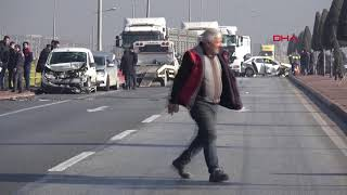 Konya'da, sisli yolda zincirleme kaza