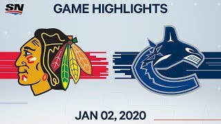 NHL Highlights   Blackhawks vs Canucks - Jan. 02, 2020