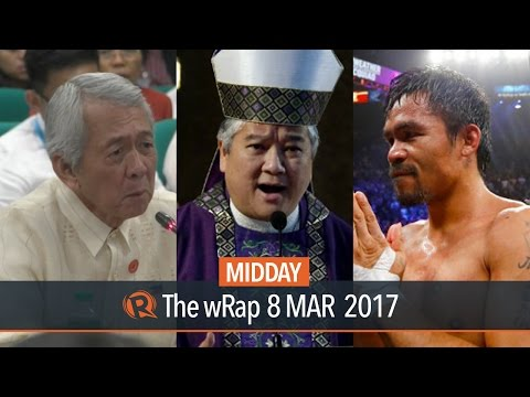 Yasay, CBCP, Pacquiao | Midday wRap