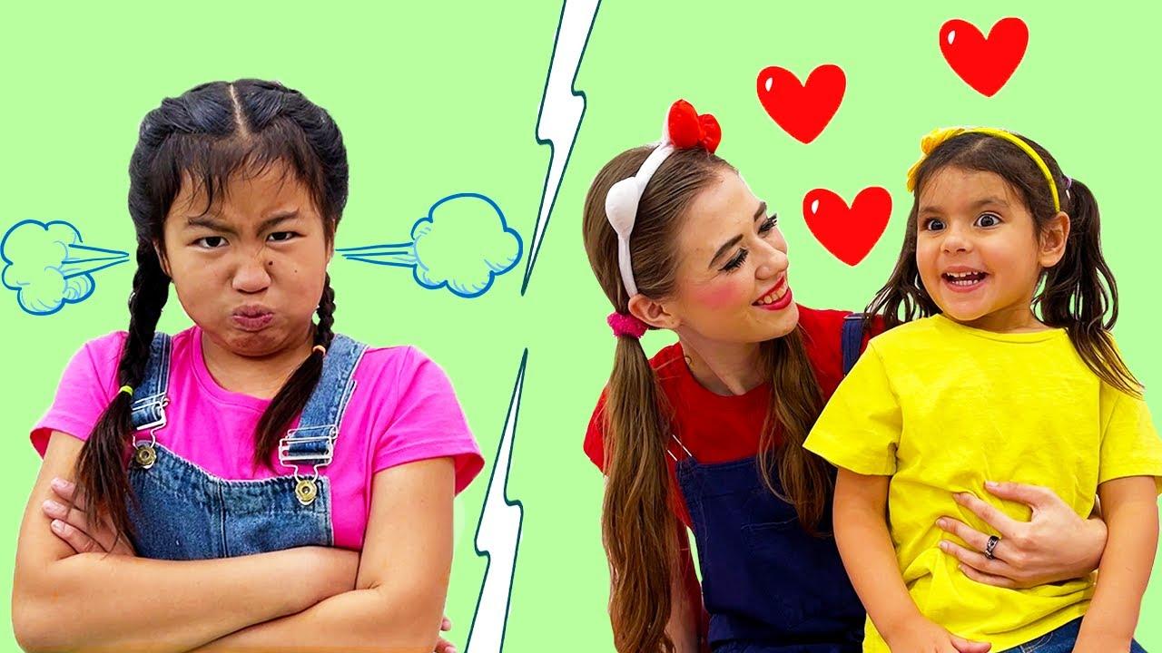 Jannie & Ellie Learning about Jealousy & Rules of Behavior | Good & Bad Behavior for Kids