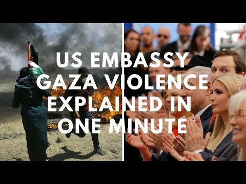 Gaza- Israeli Border Violence Explained in ONE Minute - Not just the U.S. Embassy issue.