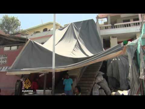 Art project gives Haiti slum a facelift