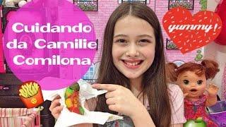 Cuidando da Minha Baby Alive Comilona Camilie Julia Silva