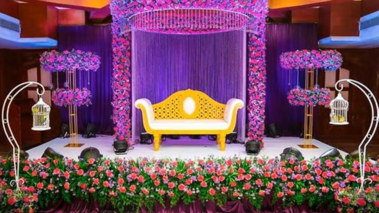 Wedding Stage Decoration || Stage Decoration Idea || Mandap Stage Decor || Stage Design