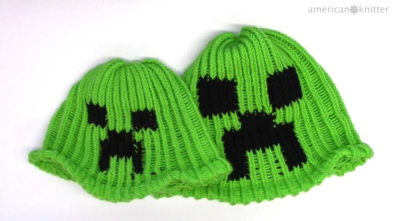 How to make a Minecraft Creeper Beanie Hat on a round loom - YouTube 16c96882d00