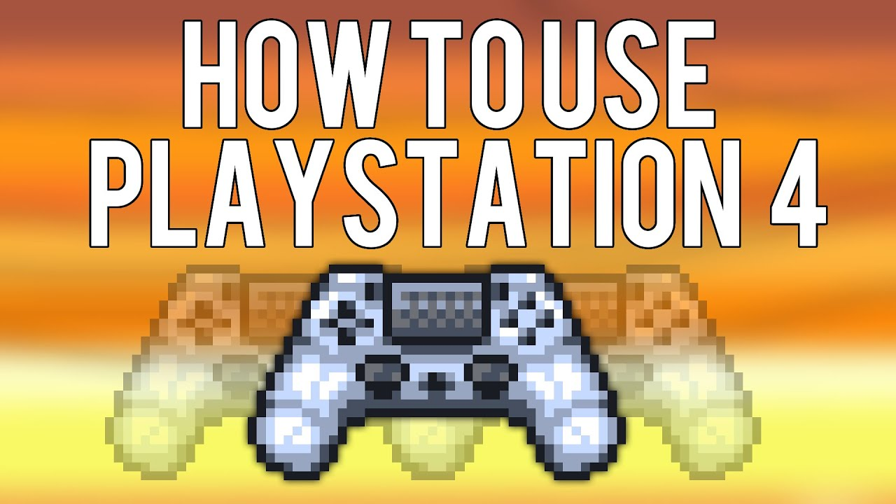 how to connect ps4 contoroller to terraria
