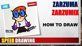 SPEED DRAWING HOW TO DRAW DEXTER STEP BY STEP EASY AND FAST