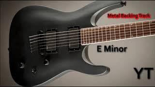 Metal Backing Track E Minor