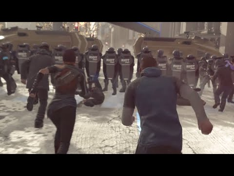 Detroit Become Human - Androids Vs Police Epic Battle