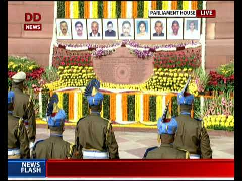 PM Modi and other leaders pay floral tributes to martyrs of Parliament Attack