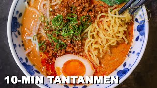 10-Minute Tantanmen EASY Homemade Ramen from Scratch at Home