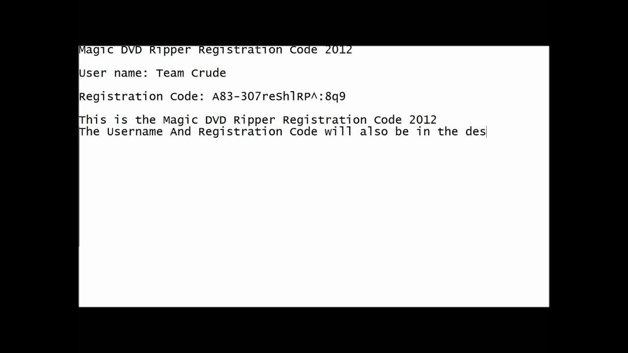 magic dvd copier code