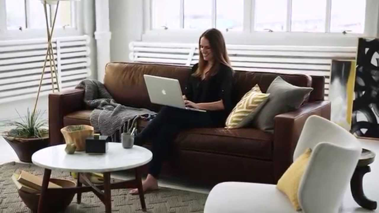 West Elm Leather Sofa Reviews Large Covers Uk The That S Always In Style Youtube