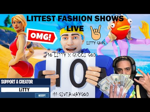 FORTNITE FASHION SHOW LIVE WINNER GETS 1500 VBUCKS BEST DRIP WINS