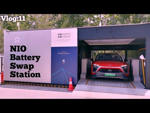 Nio ES6, Nio ES8 - Battery Swap Station In Xi'an China
