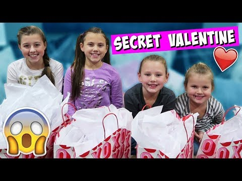 SECRET VALENTINE SURPRISE CHALLENGE! OPENING PRESENTS!