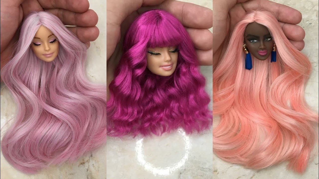 How to Make Barbie Doll Makeover | DIY Miniature Ideas for Barbie | Wig, Dress, Faceup and More!