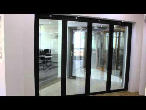 FD75 frameless glass bi-fold door - YouTube