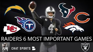 The 6 Most Important Games For The Oakland Raiders In 2019