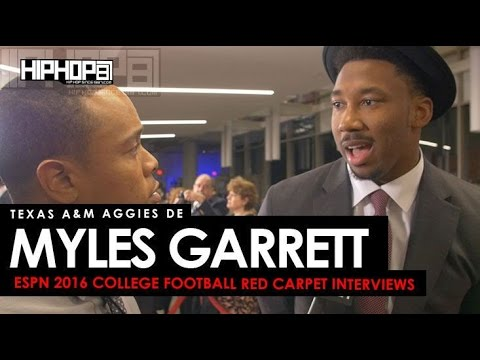 Texas A&M DE Myles Garrett Talks Chuck Bednarik Award, & More (ESPN 2016 College Football Awards)
