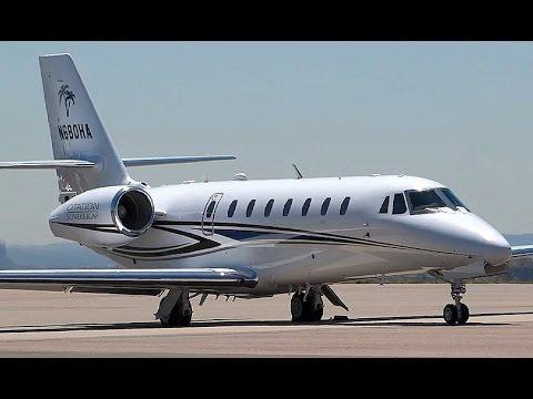 Cessna Citation Sovereign (C680) - Taxi and Takeoff (ATC audio)