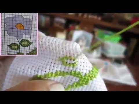Hướng dẫn thêu tranh hoa - tranh thêu chữ thập - http://tranhtheulucky.com