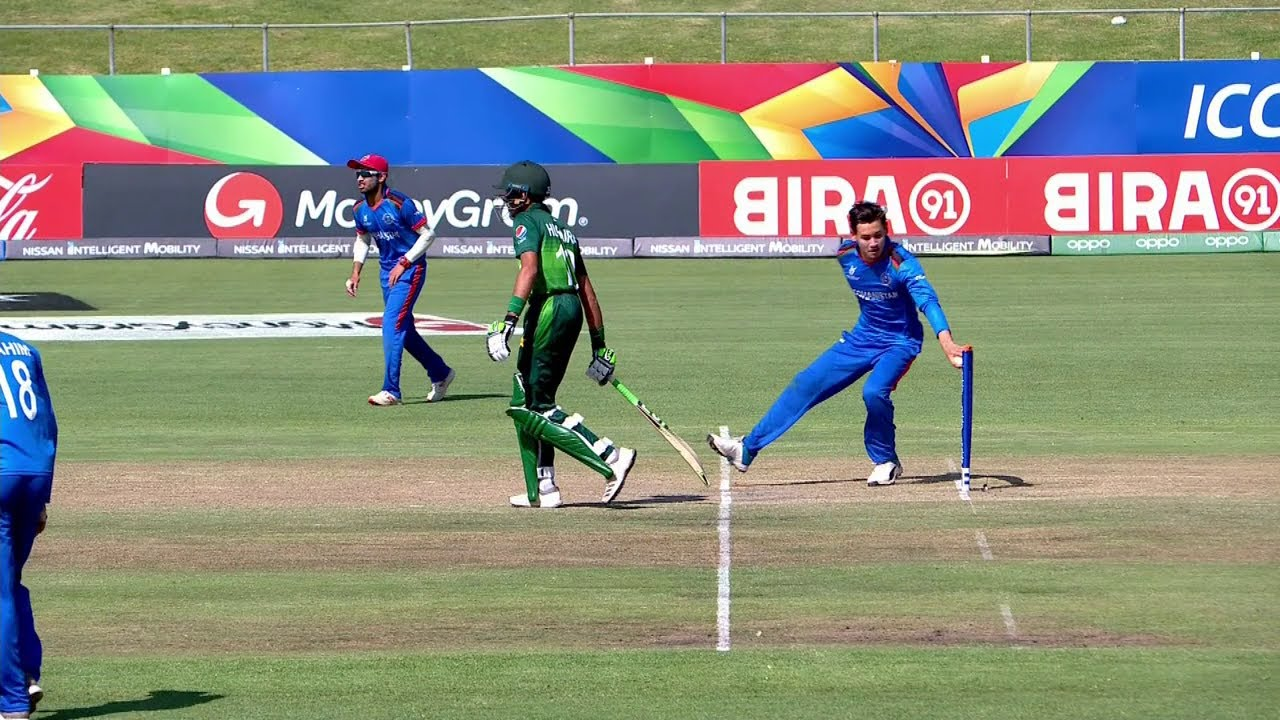 Mankad in the ICC U19 Cricket World Cup 2020: Noor Ahmad dismisses Muhammad Hurraira