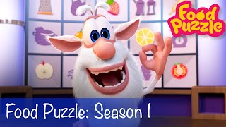 Booba - Food Puzzle Season 1 + Compilation of All Episodes with Food - Cartoon for kids