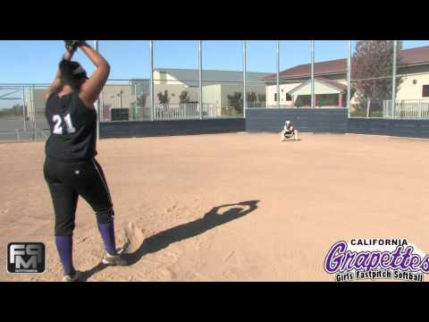 2015 Gabrielle Montaie Pitcher Softball Skills Video