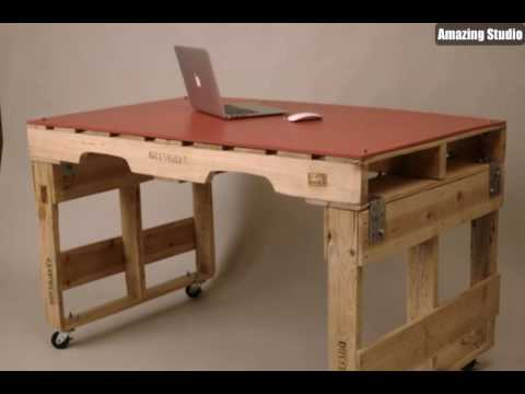 tisch aus europaletten diy m bel youtube. Black Bedroom Furniture Sets. Home Design Ideas