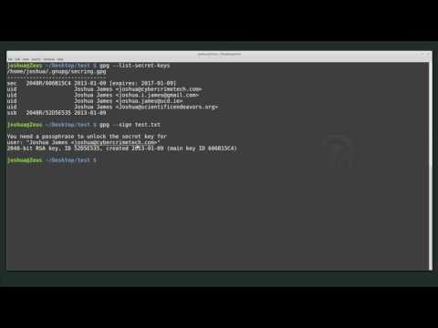 Linux Intro: Signing and verifying data using GPG
