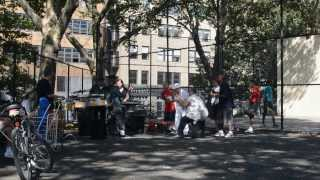 Saturday Afternoon Scene in Manhattan: Salsa Band at Dewitt Clinton Park, Hell