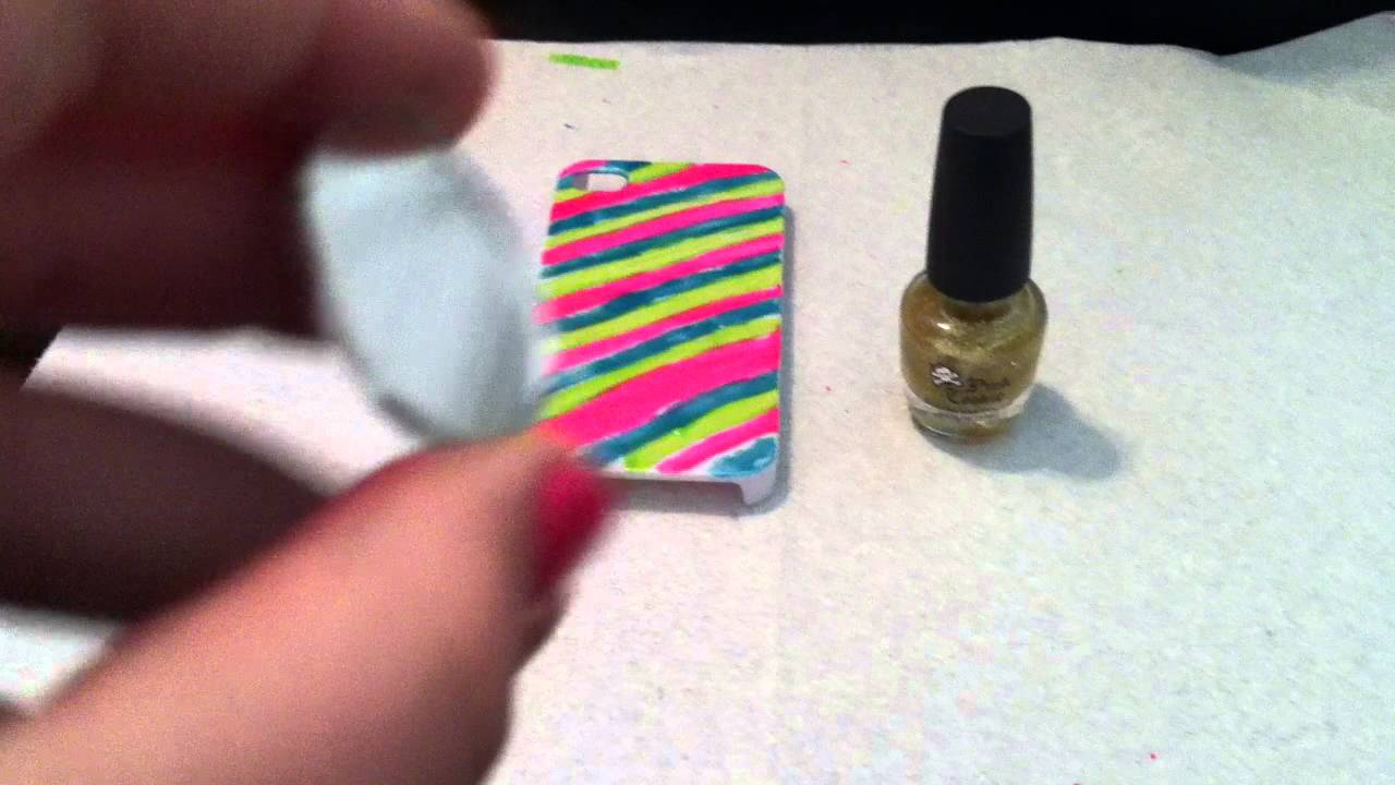 How To Paint A IPhone Case With Nail Polish Part 2 - YouTube
