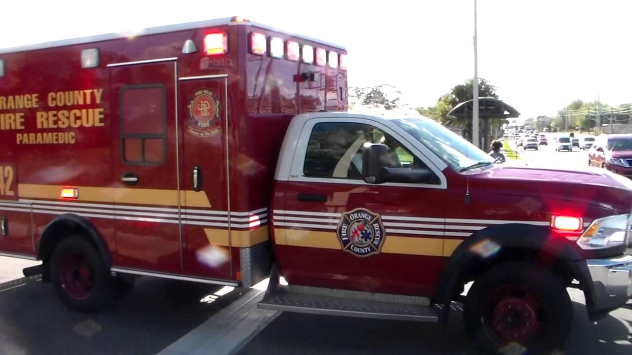 Orange County Fire Rescue Rescue 42 Responding YouTube