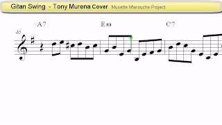 Gitan Swing (Tony Murena Cover) - Accordion Sheet music