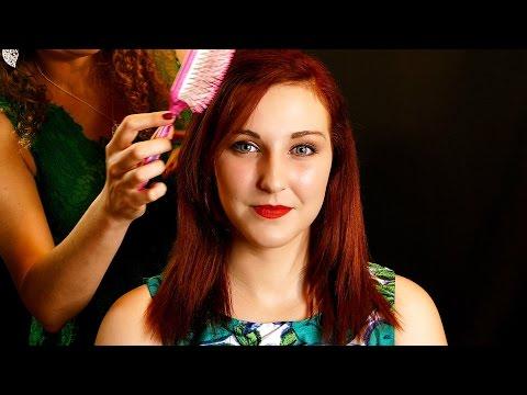 ASMR Hair Brushing, Hair Play & Light Scalp Massage Oil Spa Salon Treatment Binaural Soft Spoken