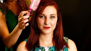 ASMR Hair Brushing, Hair Play & Light Scalp Massage Oil Spa Salon Treatment Binaural Soft Spoken