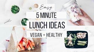 HEALTHY LUNCH IDEAS FOR BACK TO SCHOOL! EASY + VEGAN ALTERNATIVES
