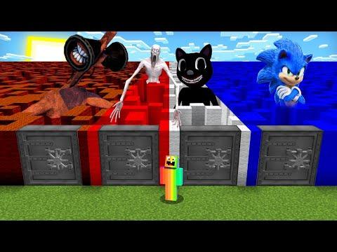DO NOT CHOOSE THE WRONG VAULT MAZE! (Scp096,CartoonCat,Sonic,Sirnhead) (PS4/XboxOne/PE/MCPE)